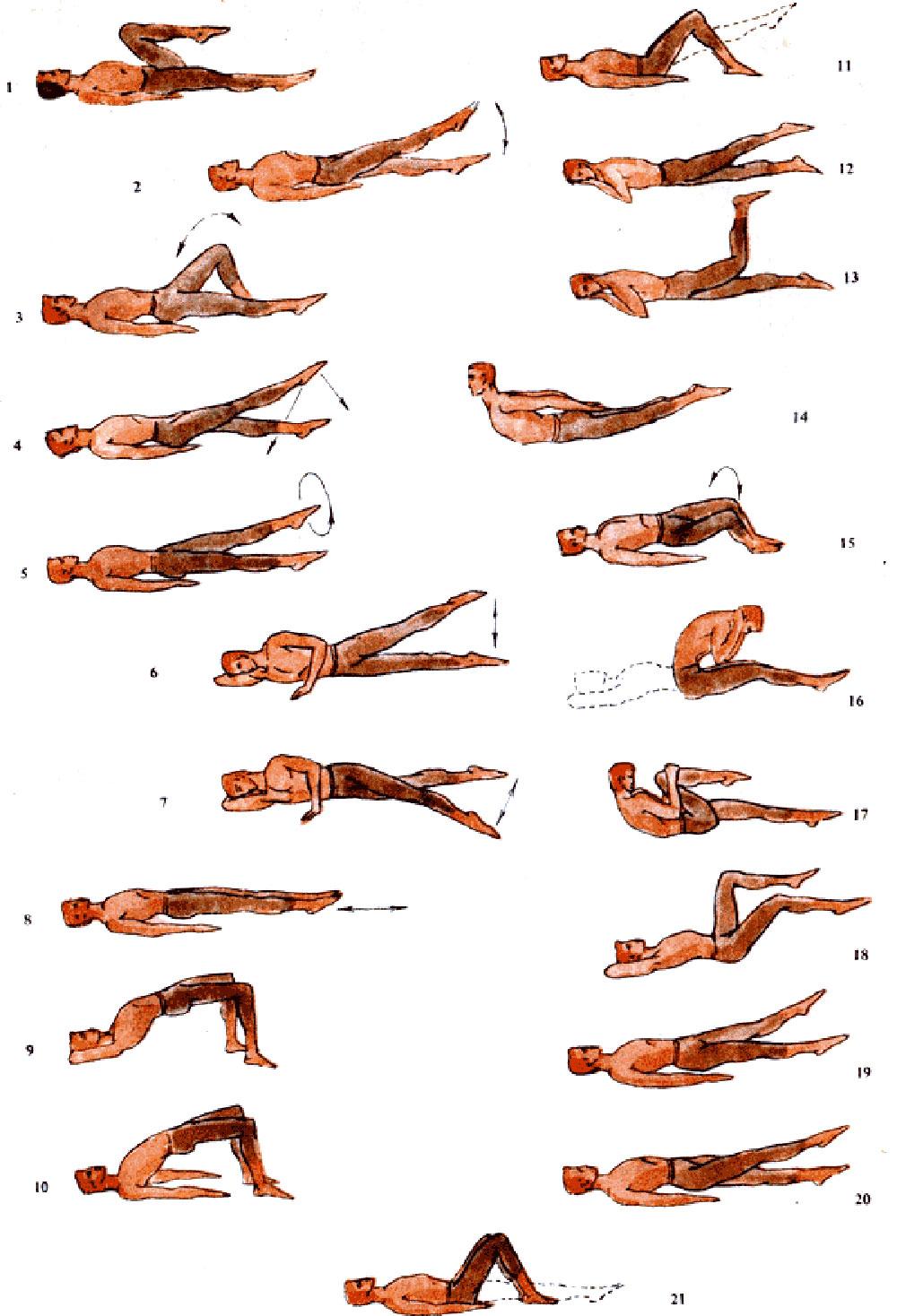 Гимнастика при остеохондрозе шейно-грудного отдела позвоночника
