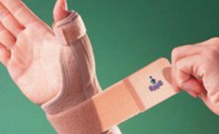 Вывих большого пальца правой руки