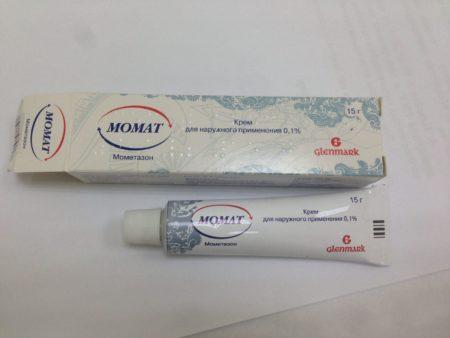 Внешний вид флакона препарата Момат
